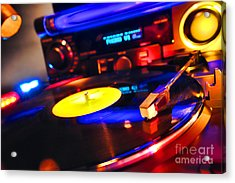 Dj 's Delight Acrylic Print by Olivier Le Queinec