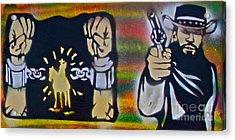 Django Gunnin' Acrylic Print by Tony B Conscious