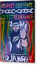 Django Rasta Resistance Acrylic Print by Tony B Conscious