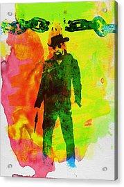 Django Unchained Watercolor Acrylic Print