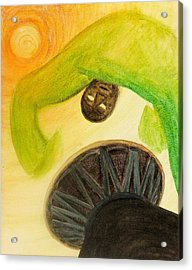 Acrylic Print featuring the painting Djembe by Marc Philippe Joly