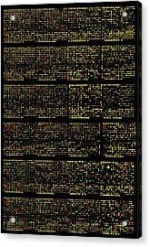 Dna Microarrays Acrylic Print by National Human Genome Institute