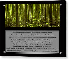 Do It Anyway Bamboo Forest Acrylic Print