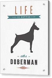 Doberman Pinscher 01 Acrylic Print