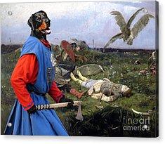 Doberman Pinscher Art - After The Battle Acrylic Print