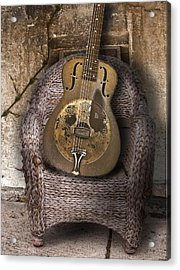 Dobro Guitar Acrylic Print by Larry Butterworth