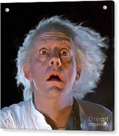 Doc Brown Acrylic Print by Paul Tagliamonte