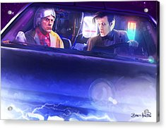 Doc Doctor And The Delorian Acrylic Print