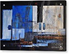 Dock 35 Acrylic Print by Sallie-Anne Swift