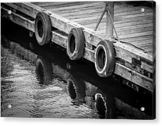 Dock Bumpers Acrylic Print by Melinda Ledsome