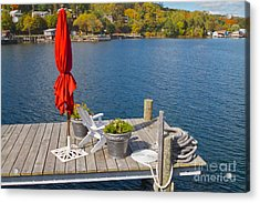 Dock By The Bay Acrylic Print by William Norton
