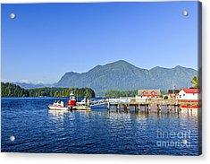Dock In Tofino Acrylic Print
