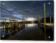 Dock Of The Bay Acrylic Print by Bob Jackson