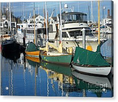 Dock Of The Bay Acrylic Print by Lauren Leigh Hunter Fine Art Photography