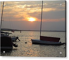 Dock Of The Bay Acrylic Print by Sandra Spincola