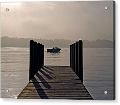 Dock Shadows Acrylic Print