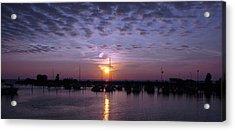 Dock Sunset Acrylic Print