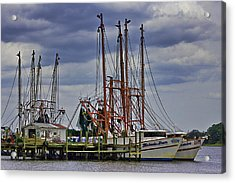 Dock Work Acrylic Print by Barry Jones