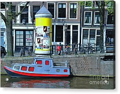 Acrylic Print featuring the photograph Docked In Amsterdam by Allen Beatty