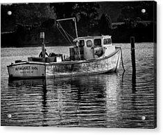 Docked For The Night Acrylic Print by Glenn Thompson