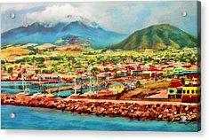 Docked In St. Kitts Acrylic Print
