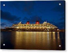 Docked In The Bahamas  C6j5497 Acrylic Print