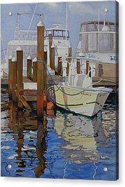 Docked Acrylic Print by Judy Mercer