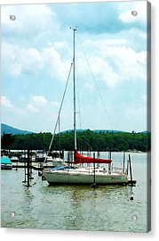 Acrylic Print featuring the photograph Docked On The Hudson River by Susan Savad