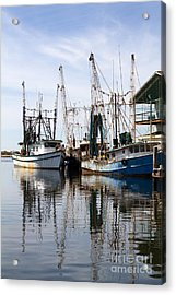 Docked Shrimp Boats Acrylic Print