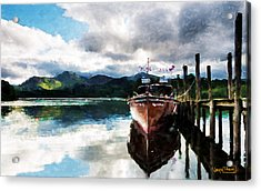 Acrylic Print featuring the painting Docked by Wayne Pascall