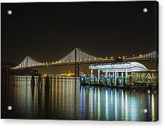 Docks And Bay Lights Acrylic Print
