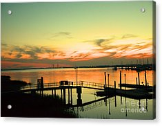 Docks At Dusk Acrylic Print