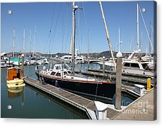 Docks At Sausalito California 5d22688 Acrylic Print