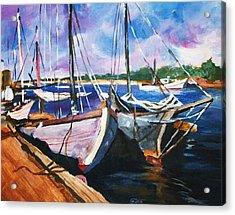 Dockside Acrylic Print by Al Brown