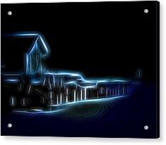 Dockside Moonlight Acrylic Print