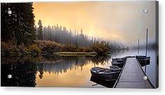 Dockside Sunrise Acrylic Print by Joel Zak