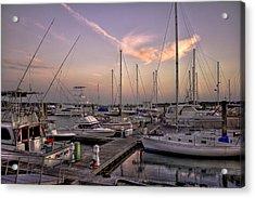 Dockside Sunset In Beaufort South Carolina Acrylic Print