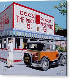 Docs Root Beer East Sacramento Acrylic Print by Paul Guyer