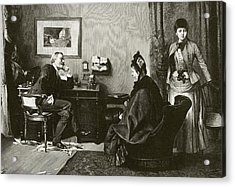 Doctor Consultation Acrylic Print by National Library Of Medicine