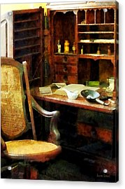 Acrylic Print featuring the photograph Doctor - Doctor's Office by Susan Savad