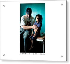 Doctor Examines Honduran Girl Acrylic Print by Tina Manley