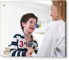 Doctor Examining Child Acrylic Print