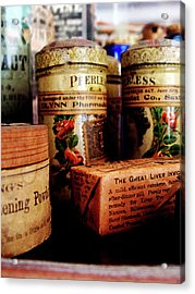 Acrylic Print featuring the photograph Doctor - Liver Pills In General Store by Susan Savad