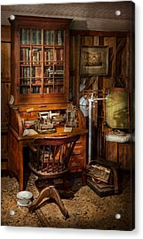 Doctor - My Tiny Little Office Acrylic Print by Mike Savad