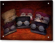 Doctor - Optometrist - Array Of Opticals Acrylic Print by Mike Savad