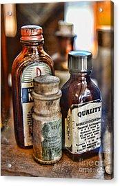 Doctor The Mercurochrome Bottle Acrylic Print by Paul Ward