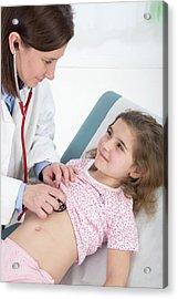 Doctor Using Stethoscope Acrylic Print