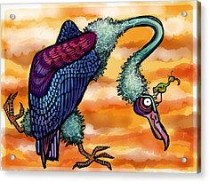 Doctor Vultura Acrylic Print by Kelly Jade King