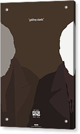 Doctor Who 50th Anniversary Poster Set The War Doctor Acrylic Print by Jeff Bell