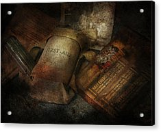 Doctor - Wwii Emergency Med Kit Acrylic Print by Mike Savad